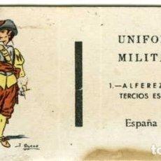 Cajas de Cerillas: UNIFORMES MILITARES. COLECCION COMPLETA DE 30 CARTONES PLANCHA DE CAJAS DE CERILLAS SIN USAR.. Lote 73712647