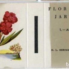 Cajas de Cerillas: FLORES DE JARDÍN. COLECCION COMPLETA DE 30 CARTONES PLANCHA DE CAJAS DE CERILLAS SIN USAR.. Lote 73712739