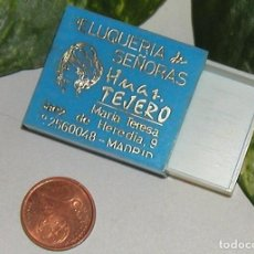 Cajas de Cerillas: CAJA DE CERILLAS EN PLÁSTICO DURO VACÍA DÉCADA 60-70 CON FELICITACIÓN NAVIDAD. Lote 75627459