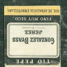 Cajas de Cerillas: CAJA CERILLAS BRANDY SOBERANO. Lote 76169907