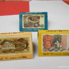 Cajas de Cerillas: 3 CAJAS DE CERILLAS AÑOS 70. Lote 80176385