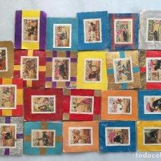 Cajas de Cerillas: COLECCIÓN COMPLETA PORTADAS CERILLAS ESTAMPAS TAURINAS. Lote 80457721