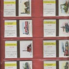 Cajas de Cerillas: 20 CAJAS DE CERILLAS ABIERTAS DE LOCOMOTORAS Y TRENES FABRICADAS POR FOSFORERA ESPAÑOLA S.A.. Lote 80804731