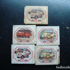 Cajas de Cerillas: LOTE 5 ANTIGUAS CAJA DE CERILLAS DE COCHES, AUTOMOVILES, EXTRANJERAS. Lote 80814283