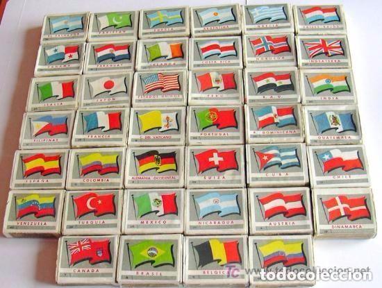 BANDERAS Y MONUMENTOS - 40 CAJAS DE CERILLAS, COLECCION COMPLETA, FOSFORERA ESPAÑOLA 1959 (Coleccionismo - Objetos para Fumar - Cajas de Cerillas)