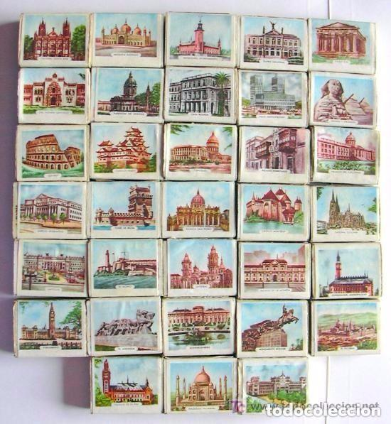 Cajas de Cerillas: Banderas y Monumentos - 40 cajas de cerillas, Coleccion completa, Fosforera Española 1959 - Foto 2 - 81100172