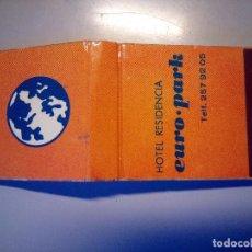 Cajas de Cerillas: CARTERITA CERILLAS HOTEL EURO PARK. Lote 81105476