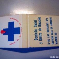 Cajas de Cerillas: CARTERITA CERILLAS HERMANDAD DONANTES SANGRE MADRID. Lote 81106108