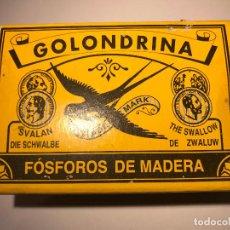 Cajas de Cerillas: ANTIGUA CAJA DE CERILLAS , LA GOLONDRINA. Lote 81151192
