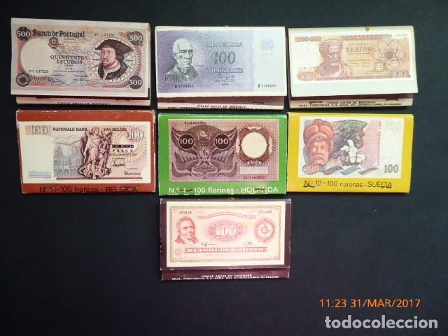 Cajas de Cerillas: cajas cerillas 7, banco popular año 70, completas. - Foto 2 - 81986292