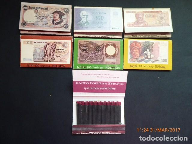 Cajas de Cerillas: cajas cerillas 7, banco popular año 70, completas. - Foto 3 - 81986292