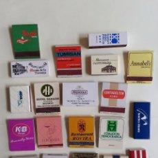 Cajas de Cerillas: LOTE DE 20 CAJAS DE CERILLAS VARIADAS . Lote 81996824