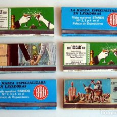 Cajas de Cerillas: 6 CAJAS DE CERILLAS. TIPO CARTERA. 11,5 CM. LARGO. AÑOS 70. Lote 82022828