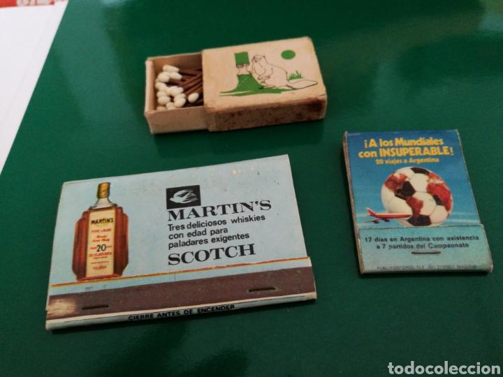 LOTE 3 CAJAS DE CERILLAS ANTIGUAS. UNA DE FOSFORERA ESPAÑOLA EN CAJITA (Coleccionismo - Objetos para Fumar - Cajas de Cerillas)