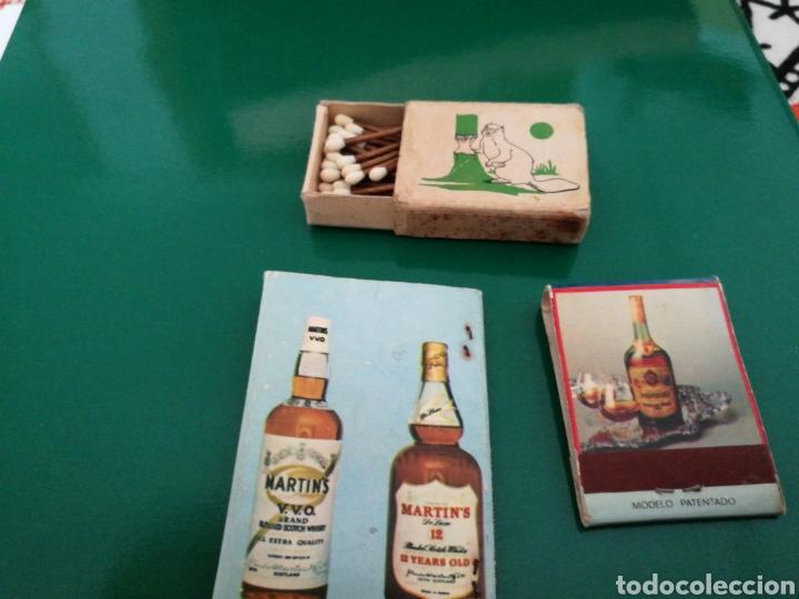 Cajas de Cerillas: Lote 3 cajas de cerillas antiguas. Una de Fosforera española en cajita - Foto 2 - 83568675