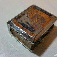 Cajas de Cerillas: CERILLERO METALICO FIRMADO. Lote 84073208