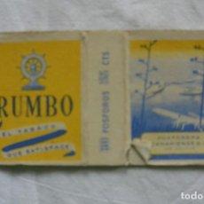Cajas de Cerillas: CAJA CERILLAS TABACO RUMBO. FOSFORERA CANARIENSE. Lote 85136360