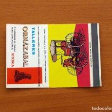 Cajas de Cerillas: CARTERITA DE CERILLAS- TALLERES ORMAZABAL, VITORIA -GENERAL FOSFORERA. Lote 85760492