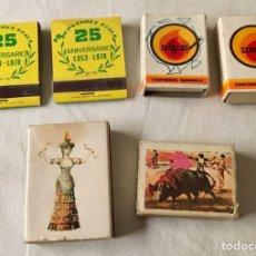 Cajas de Cerillas: LOTE DE 6 CAJAS DE CERILLAS. Lote 86414372
