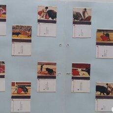 Cajas de Cerillas: 12 CAJAS CERILLAS SUERTES DEL TOREO FOPSA. Lote 86521379