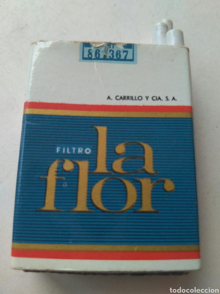 Cajas de Cerillas: CAJA CERILLAS PAQUETE DE TABACO FILTRO LA FLOR- A. CARRILLO -TENERIFE. ISLAS CANARIAS - LLENA - Foto 2 - 86716200