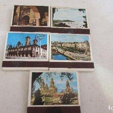 Cajas de Cerillas: LOTE 5 CAJAS DE CERILLAS - PROVINCIAS ESPAÑOLAS - GALICIA. Lote 87165560