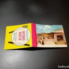 Cajas de Cerillas - Caja carterita cerillas Restaurante Bar Antonio Martin, Málaga. Fosforera Española - 87468300