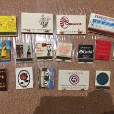 Cajas de Cerillas: LOTE 17 CAJAS DE CERILLAS AÑOS 70 Y 80. Lote 87688036