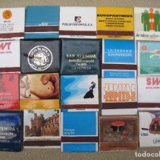 Cajas de Cerillas: LOTE DE 20 CARTERITAS - CAJAS DE CERILLAS -. Lote 88366468