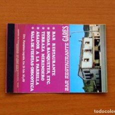 Caixas de Fósforos: CARTERITA DE CERILLAS - SALA DE FIESTAS DISCOTECA BAR RESTAURANTE GARES. Lote 88968864