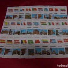 Cajas de Cerillas: BANDERAS Y MONUMENTOS. FOSFORERA ESPAÑOLA. SERIE COMPLETA 30 CAJAS DE CERILLAS EN PLANCHA.. Lote 89435828