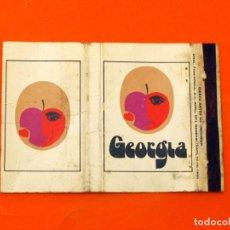 Cajas de Cerillas: CARTERITA DE CERILLAS - DISCOTECA GEORGIA - BARCELONA -. Lote 89567160