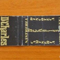 Cajas de Cerillas: CARTERITA DE CERILLAS - DISCOTECA D'CHARLES, BARCELONA . Lote 90032660