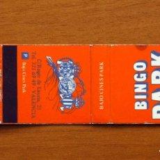 Cajas de Cerillas: CARTERITA DE CERILLAS - BAJO CINES PARK, BINGO PARK, VALENCIA. Lote 91122940