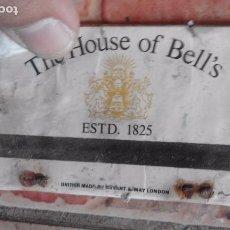 Cajas de Cerillas: ANTIGUA VAJA DE CERILLAS BEBIDA PROMOCION WHISKEY THE HOUSE OF BELLS. Lote 91510115
