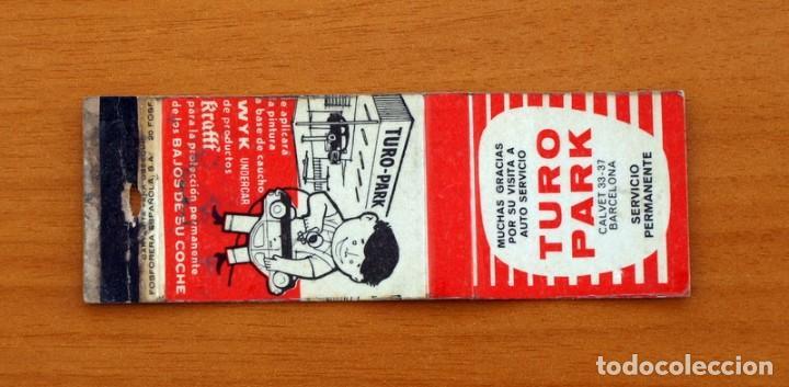 CARTERITA DE CERILLAS - TALLERES TURO PARK, BARCELONA - KRAFFT (Coleccionismo - Objetos para Fumar - Cajas de Cerillas)