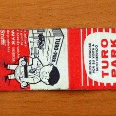 Cajas de Cerillas: CARTERITA DE CERILLAS - TALLERES TURO PARK, BARCELONA - KRAFFT. Lote 92372150