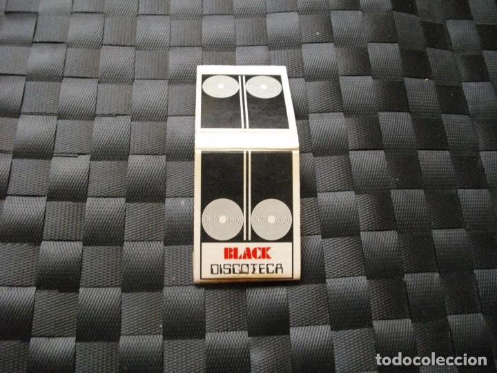 CAJA DE CERILLAS - DISCOTECA BLACK - LA DE LA FOTO VER TODOS MIS LOTES DE CERILLAS (Coleccionismo - Objetos para Fumar - Cajas de Cerillas)