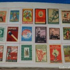 Cajas de Cerillas: (M) LOTE DE 1967 FRONTALES DE CAJAS DE CERILLAS DE PUBLICIDAD DE TODO EL MUNDO AÑOS 20/50. Lote 93597245