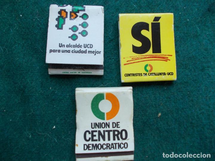 LOTE DE CERILLAS DE UCD (Coleccionismo - Objetos para Fumar - Cajas de Cerillas)
