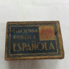 Cajas de Cerillas: ANTIGUA CAJA DE CERILLAS HACIENDA PÚBLICA ESPAÑOLA. Lote 95961234