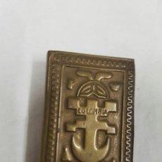 Cajas de Cerillas: PORTA CAJA DE CERILLAS LATÓN . Lote 95961874