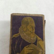 Cajas de Cerillas: MUY ANTIGUA CAJA DE CERILLAS CERVANTES. FOSFORERA CARARIENSE. Lote 95962248