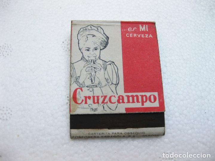 Cajas de Cerillas: CAJA DE CERILLAS ESPAÑOLA PUBLICITARIA DE CERVEZAS CRUZCAMPO VACIA - Foto 3 - 96816091