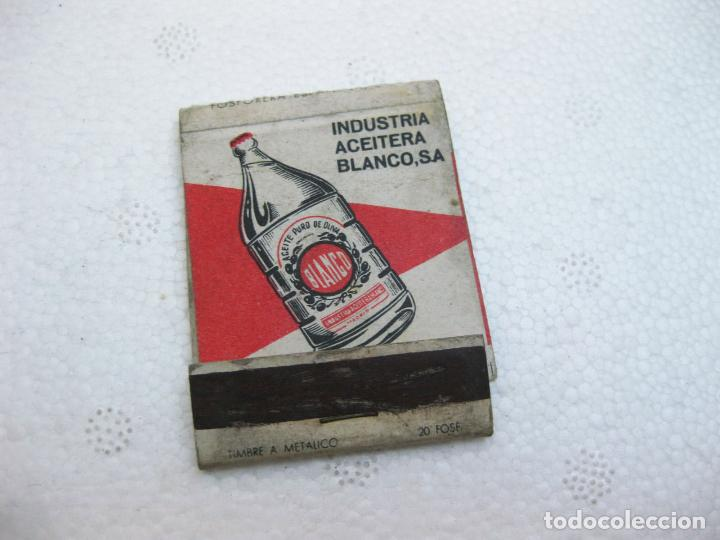CAJA DE CERILLAS ESPAÑOLA PUBLICITARIA DE ACEITE - INDUSTRIA ACEITERA BLANCO (Coleccionismo - Objetos para Fumar - Cajas de Cerillas)