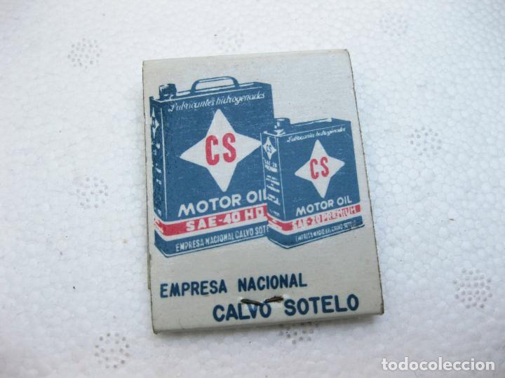 Cajas de Cerillas: CAJA DE CERILLAS ESPAÑOLA PUBLICITARIA DE ACEITE CS - CALVO SOTELO - Foto 2 - 96816687