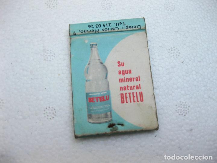 Cajas de Cerillas: CAJA DE CERILLAS ESPAÑOLA PUBLICITARIA DE AGUA BETELU VACIA - Foto 2 - 96816835
