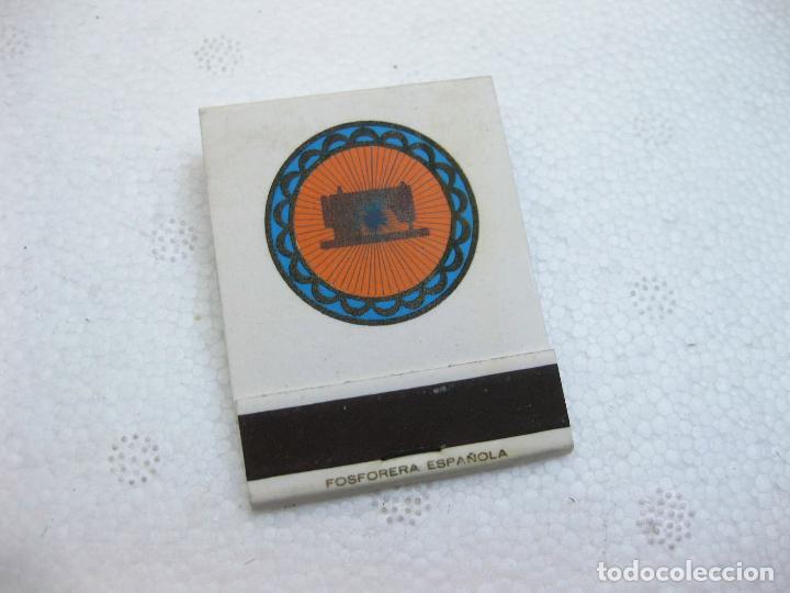 CAJA DE CERILLAS ESPAÑOLA PUBLICITARIA DE MAQUINAS DE COSER ALFA 50 ANIVERSARIO (Coleccionismo - Objetos para Fumar - Cajas de Cerillas)