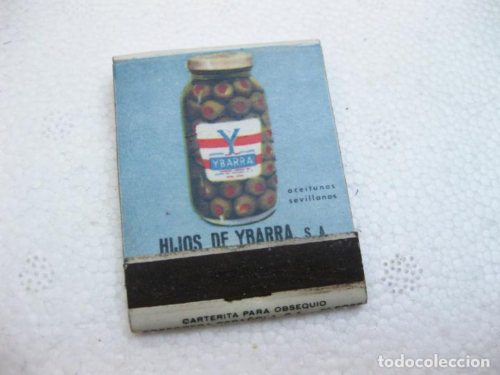 CAJA DE CERILLAS ESPAÑOLA PUBLICITARIA DE ACEITE YBARRA (Coleccionismo - Objetos para Fumar - Cajas de Cerillas)