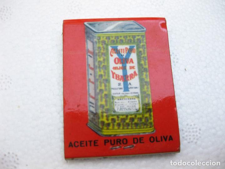Cajas de Cerillas: CAJA DE CERILLAS ESPAÑOLA PUBLICITARIA DE ACEITE YBARRA - Foto 2 - 96817507